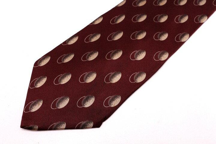 レノマ renoma ドット柄 レッド 赤 シルク 日本製 ブランド ネクタイ 送料無料 【中古】【良品】