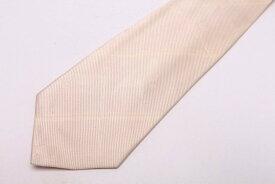 ダックス DAKS 鳥モチーフ ストライプ柄 動物柄 ホワイト 白 シルク 日本製 ブランド ネクタイ 送料無料 【中古】【美品】