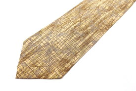 クロエ CHLOE 花柄 イエロー 黄 シルク 日本製 ブランド ネクタイ 送料無料 【中古】【美品】