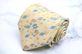 クロエ CHLOE 総柄 イエロー 黄 シルク 日本製 ブランド ネクタイ 送料無料 【中古】