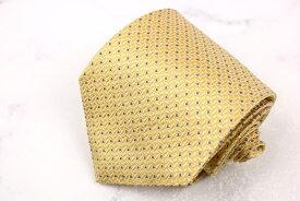 346 ブルックスブラザーズ Brooks Brothers USA製 シルク 幾何柄 イエロー シルク ブランド ネクタイ 送料無料 【中古】