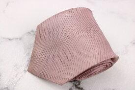 グッチ GUCCI クレスト紋章 シルク イタリア製 ドット柄 ピンク シルク ブランド ネクタイ 送料無料 【中古】