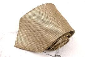 グッチ GUCCI クレスト紋章 シルク イタリア製 ドット柄 ベージュ シルク ブランド ネクタイ 送料無料 【中古】【美品】