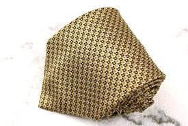 チャップスラルフローレン CHAPS Ralph Lauren 日本製 シルク 総柄 イエロー シルク ブランド ネクタイ 送料無料 【中古】【良品】