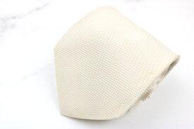 ジョルジオ アルマーニ GIORGIO ARMANI 無地 地模様 シルク イタリア製 格子柄 ホワイト シルク ブランド ネクタイ 送料無料 【中古】【良品】