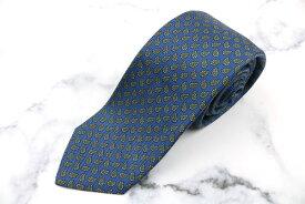 ポロ ラルフ ローレン Polo Ralph Lauren ハンドメイド USA製 シルク ペイズリー柄 ブルー シルク ブランド ネクタイ 送料無料 【中古】【良品】