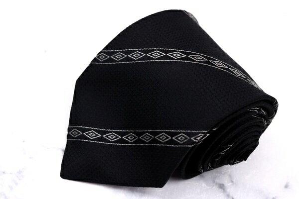 ダナキャラン DONNA KARAN DKNY ストライプ柄 ブラック シルク ブランド ネクタイ 送料無料 【中古】【美品】