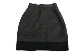 [美品] ヴェルサスヴェルサーチ VERSUS VERSACE 40サイズ スカート ウール100% 伊製 ひざ丈 コクーン 小さいサイズ レディース ブランド古着 【中古】
