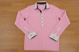 [美品] セッティングクラックス SETTING CRACKS 03サイズ セーター ニット 襟付き 前ボタン ゴルフにも 普段着にも メンズ 服 ピンク ブランド古着 【中古】
