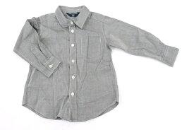 9b26a26433e0e 中古  美品  コムサデモード COMME CA DU MODE 95サイズ カジュアルシャツ 長袖 ワイシャツ シンプル 男の子 子供服 トップス  グレー ブランド古着  中古