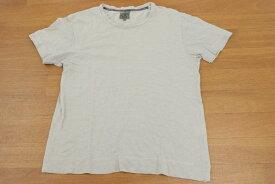 カルバンクライン Calvin Klein Mサイズ 総柄 クルーネック カットソー 半袖 メンズ 紳士服 大人カジュアル トップス Tシャツ グレー ブランド古着 【中古】