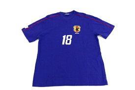 [良品] 日本代表 JAPAN NATIONAL TEAM Lサイズ Tシャツ 半袖 小野伸二 #18 サッカー スポーツ グッズ メンズ 服 ブルー ブランド古着 【中古】