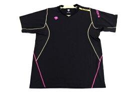 [美品] デサント DESCENTE Oサイズ トレーニングシャツ Tシャツ 半袖 スポーツウェア メンズ 服 ブラック ブランド古着 【中古】