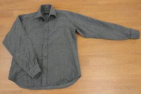 [美品] コムサデモードメン COMME CA DU MODE 2サイズ 無地 長袖 カジュアルシャツ ネル 大人コーデ シンプル メンズ トップス グレー ブランド古着 【中古】