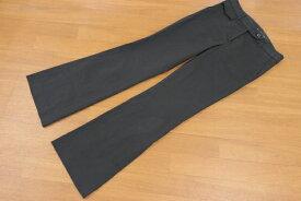 [良品] マイケルコース MichaelKors 4サイズ パンツ ロング丈 ノータック ワイド 裾広 きれいめ ビジネス レディース 服 ブラック ブランド古着 【中古】