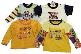 パーソンズキッズ PERSONS KIDS 95サイズ 総柄 新品含む トレーナー 長袖 半袖 Tシャツ 4点セット トップス 男女 子供服 キッズ イエロー ブランド古着 【中古】