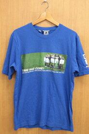 [美品] アディダス adidas Lサイズ 日本代表 Tシャツ 勝ちT 2003 キリンカップ 記念 メンズ 服 ブルー ブランド古着 【中古】