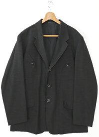 [美品] ヨウジヤマモト Y's Mサイズ ジャケット メンズ テーラードジャケット シルク 3ボタン 裏地なし POUR HOMME ブラック ブランド古着 【中古】