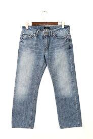 [美品] バーバリーブラックレーベル BURBERRY BLACK LABEL 79サイズ パンツ メンズ デニム ジーンズ ジーパン シンプル ブルー ブランド古着 【中古】