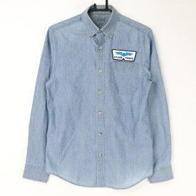 [良品] エルエルビーン L.L.Bean 3サイズ ワンポイント タンガリーシャツ デニム風 カジュアル アメカジ ワッペン トップス メンズ服 ブルー ブランド古着 【中古】