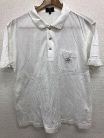 エムシーエム MCM Mサイズ ワンポイント ポロシャツ メンズ 半袖 ロゴ ホワイト ブランド古着 【中古】