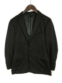 [良品] バーバリーブラックレーベル BURBERRY BLACK LABEL Mサイズ 無地 テーラードジャケット メンズ シングル 裏有 ブラック ブランド古着 【中古】