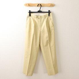 バーバリーロンドン BURBERRY LONDON 76サイズ 無地 パンツ メンズ ズボン 綿パン 2タック ライトベージュ ブランド古着 【中古】