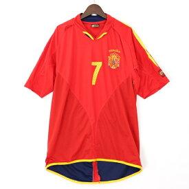 サッカースポーツ SoccerSport ESPANA スペイン代表 ユニフォーム 7番 RAUL レッド ブランド古着 【中古】