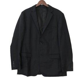 バーバリーブラックレーベル BURBERRY BLACK LABEL LLサイズ テーラードジャケット ブレザー メンズ 紳士服 アウター 高級 ブラック ブランド古着 【中古】