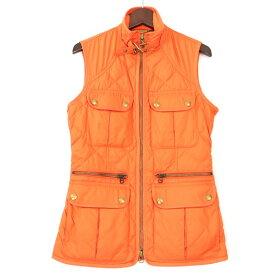[良品] ラルフローレン Ralph Lauren XSサイズ ダウンベスト キルティングジャケット 小さいサイズ レディース アウター 服 オレンジ ブランド古着 【中古】