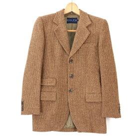 [美品] ラルフローレン Ralph Lauren 7サイズ ジャケット レディース シングル 3ボタン テーラードジャケット ブラウン ブランド古着 【中古】