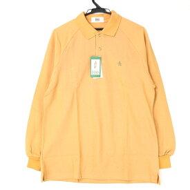 [新品/未使用] マンシングウェア Munsingwear Lサイズ ポロシャツ メンズ 長袖 ロングスリーブ ワンポイント ロゴ タグ付き イエロー ブランド古着 【中古】