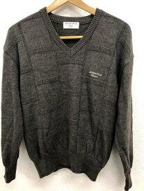 [良品] マンシングウェア Munsingwear SAサイズ Classic セーター ニット Vネック トップス メンズ 紳士服 ゴルフ GOLF グレー ブランド古着 【中古】