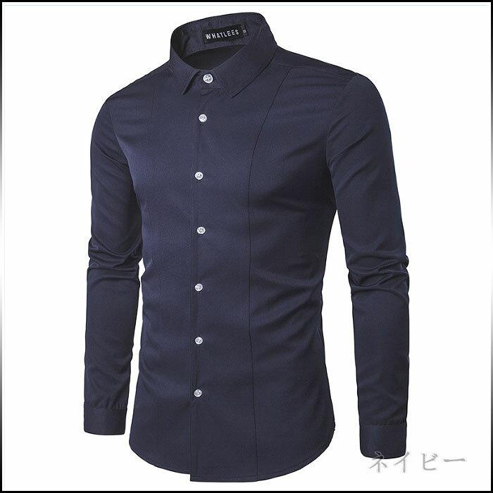 期間限定 ワイシャツ メンズ トップス 長袖 シンプル きれいめ カジュアル カラバリ ビジネス 普段着 メンズファッション 長袖ワイシャツ ※fu