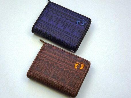 二つ折り財布 メンズ 小物 HANG TEN ハンテン ラウンドファスナー 二つ折り 財布 ウォレット 札入れ 小銭入れ コインケース ※fu