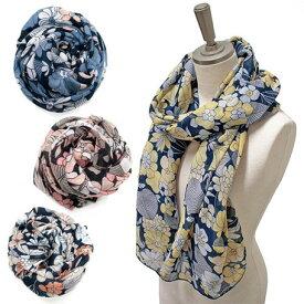ストール レディース レディース小物 レトロフラワー スカーフ 寒さ UV対策 ファッション小物