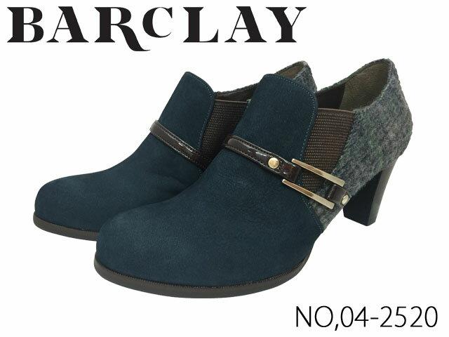 【BARCLAY(バークレー)】☆秋冬物セール☆◆ブーティー◆履きやすさとデザイン性を兼ね備えたエレガントなブーティ。印象的な金具のベルトでクラシカルな印象に。