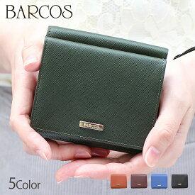 BARCOS グッドラック ウォレット 折財布 財布 サリー レディース 全5色 ONESIZE バルコス レザー 革 本革 シンプル ファスナー おしゃれ 大容量