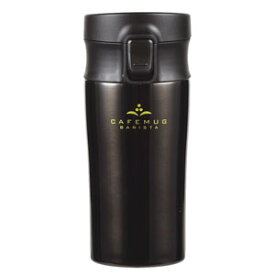 ワンタッチ タンブラー 400ml ブラック カフェマグバリスタ HB-4535 水筒 直飲み 保冷 真空断熱 コーヒー パール金属 買い回り