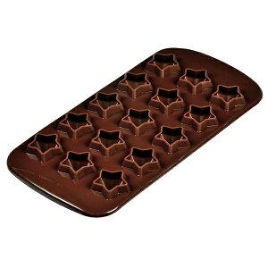 チョコ型 シリコンチョコモールド スター ラビング D-198 星形 お菓子 バレンタイン かわいい パール金属