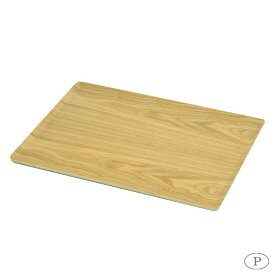 おぼん 軽い ブリック 木製 角型トレー 46×34cm ノンスリップ加工 ナチュラル HB-3747 パール金属 お盆