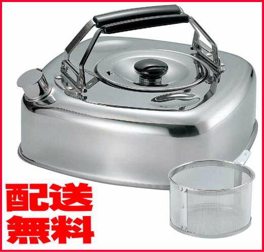 キューブケトル 2.8L KS-2621IH、ガス火オール熱源対応麦茶の作れる茶こし付きケトル【やかん】安心の日本製!【送料無料】