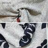 印刷編織物頂端長頂端體型蓋面板印刷貓點花紋花紋物編織物索束腰長上衣《免費》秋天冬天新作品2018aw設計編織物