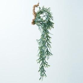 【造花】【フェイクグリーン】ビカクシダ 着生 ブルー(麻紐付) 【インテリア 観葉植物 人工植物 おしゃれ エピフィティック 吊り下げ】