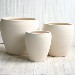 【おしゃれな植木鉢】【テラコッタ】サフィ E30W 3点セット【植木鉢 おしゃれな植木鉢 鉢 テラコッタ 素焼き鉢 陶器鉢】