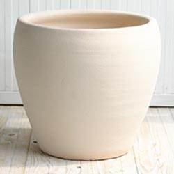【植木鉢】【テラコッタ】サフィ E30W Lサイズ ≪おしゃれ/陶器/白系テラコッタ/素焼き鉢≫