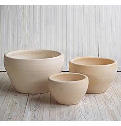 【おしゃれな植木鉢】【テラコッタ】サフィ E26W 3点セット【植木鉢 おしゃれな植木鉢 鉢 テラコッタ 素焼き鉢 陶器鉢】