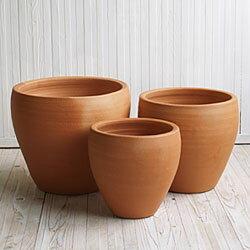【植木鉢】【テラコッタ】テラコッタ E30 3点セット【植木鉢 おしゃれな植木鉢 鉢 テラコッタ 素焼き鉢 陶器鉢】