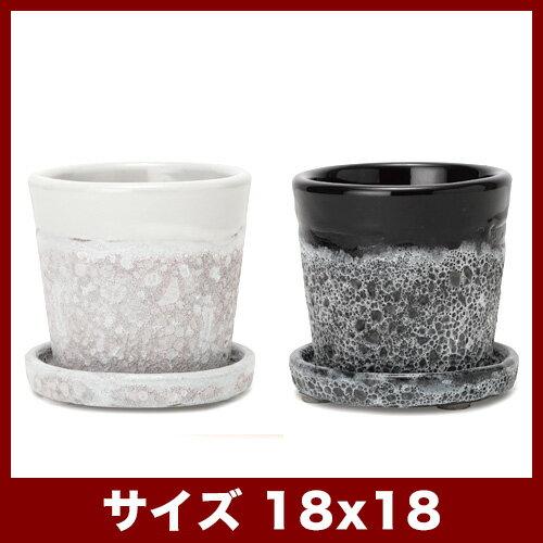 【おしゃれな植木鉢】【陶器鉢】ハーレイ 6号 受け皿付き【植木鉢 おしゃれな植木鉢 鉢 テラコッタ 素焼き鉢 陶器鉢】