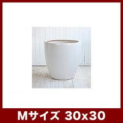 ルッカ PR6 白マット Mサイズ   ≪植木鉢/おしゃれ/陶器鉢/白磁器系≫